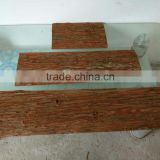 wall decoration material natural fir bark tile (tree skin rustic slices)