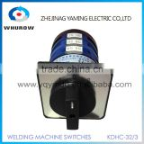 Welding machine switch KDHC-32/3 3 knots 3 poles 32A 3 positions step switch 6 pcs contacts changeover rotary switch