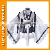 PGWC2488 New design japanese sexy girl kimono fancy dress white silk kimono robes for women
