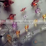 China fashion design acrylic ball chain beaded curtain for home decor