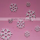 Removable Eco-friendly WPC white snowflake wall stickers for kids nursery baby room home decoration