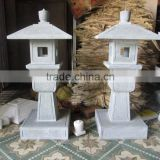 Outdoor Chinese Lantern Marble Stone Hand Sculpture Carving For Resort, House And Garden