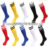 Hot Football Sock 2016 Striped Classic Design Sport Over Knee Pure Cotton Soccer Socks                                                                         Quality Choice