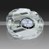 Wholesale k9 glass crystal engraved paper weight factory personalized crystal clock