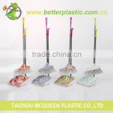 Manufacturer better colorful cheap plastic cleaning brushes set broom dustpan with long handle