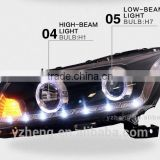 CE CCC certifications bi-xenon HID projector lens light angel eyes led automotive headlight lamps xenon headlights for cars                                                                         Quality Choice