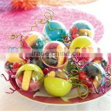 Customized Food Grade Clear Bauble Ball Clear Plastic Ball Container