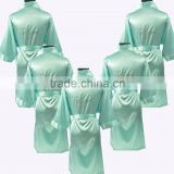 High Quality soild color Bridesmaid Satin Kimono Rhinestone Robes
