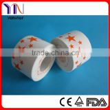 printed cotton sports tape/medical zinc oxide tape