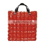 red bubble clear tote bag,cool inflatable beach bubble bag