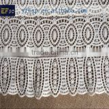 High quality new swiss cotton lace/ chemical french alencon lace fabric/ ivory guipure lace fabric for nigeria wedding dress
