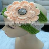 Cute baby hair ornament croched hairband with flower