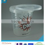 2016 JND plastic food grade cheap plastic bucket with lid for yogurt popcorn with FSSC22000 certified