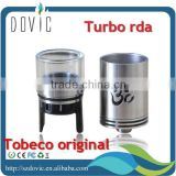 2015 Tobeco original patented turbo rda top selling authentic patented turbo rda for sale