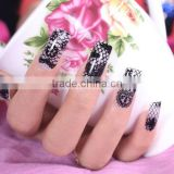 flower nails accesories black/white lace nail wrap ripple popular nail sticker                                                                         Quality Choice