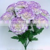 New Style H40cm Purple Fabric Flowers Bush Artificial Carnation