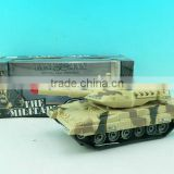 Battery operated musical and light toy tank
