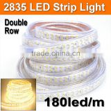 LED Strips Light 180led/m 220V Super bright 2835 Double Row waterproof Hotel Building Lighting