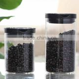 1000ml/300g coffee storage glass jar glass tea canister with plastic lid for keeping fresh