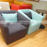 TB modern leisure bedroom relax chaise lounge chair fabric with cushion