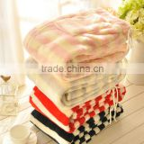 High quality coral fleece pyjamas soft 100% cotton yarn dyed striped women lounge pants