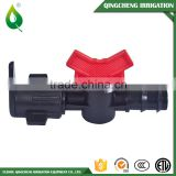 Irrigtion Plastic Pipe Water Valve Connector Fitting Barb Offtake Valve for Layflat Hose Dn16 And Dn20