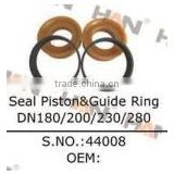 Seal Piston & Guide Ring DN180 200 230 2 Concrete Pump spare parts for Putzmeister JUNJIN Schwing Sany concrete pump accessories