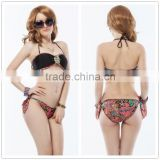 Accept paypal hot mature women sexy fashion bikinis national style padded ocean pacific swimwear