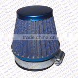 38MM Air filter Blue Grid Blue Cap Mini Moto Dirt Pit Bike ATV Quad Scooter Buggy Pocket Parts