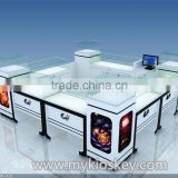 Easy assemble jewelry kiosk, mall jewelry kiosk design, jewelry shop necklace display showcase for sale