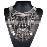 Vintage Jewelry Necklaces With Antique Long Bohemian Necklace For Women Bib Collar Statement Necklace