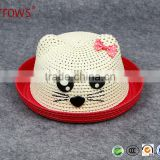 Hight Quality Sombreros School Girls Visor Paper Hat Straw Weaving