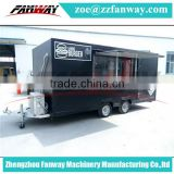 Street Mobile Ice Cream Van, Factory Supply Cheap Mobile Food Cart/Mini Food Trailer/Fast Food Truck