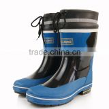 fashion design cheap cold-proof waterproof rubber boots with removable warm sock used as outdoor work boots in winter