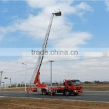 Howo 32m fire truck with aerial ladder, Sino fire sprinkler truck
