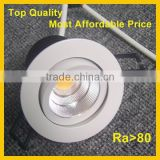 7W COB click led downlights, 3000k dimmable downlight