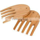 bamboo salad server & hand, kitchen gadget wholesale