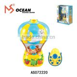 Newborn infant gift hot air balloon night light projector toy