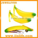 Christmas gift silicone fruit shaped zipper pencil bag