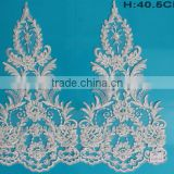 Durable ivory rhinestone garment accessories lace trim
