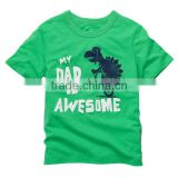 2014 factory price good quality boy cotton jersey for kids boy dinasaur printing t-shirt