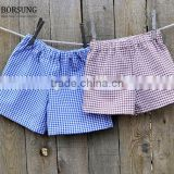 New 2017 Baby Shorts Fashion Soft cotton check shorts Summer Style Children Beach short pants