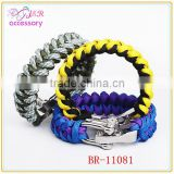 new arrival adjustable para cord outdoor survival bracelet with steel buckle for sport men and women