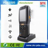 Wireless Handheld PDA Barcode scanner , Handheld industrial PDA terminal with built in thermal printer QR code scanner