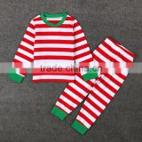 Family christmas pajamas baby stripe boutique suit designs photo children clothing sets