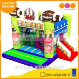 2015 AOQI latest design American football theme small inflatable combo jumper with slide for children for sale