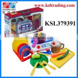 Funny dishware plastic kitchen toy set