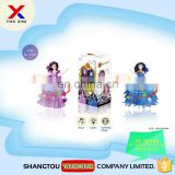 Plastic music light girl doll kids battery operated toy dancing doll