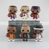 seasonal give away American basketball player pop figure, loli bastketball stars pvc figure, big head vinyl figurine