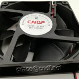 CNDF 120x120x38mm 4inch 1238series dc cooling fan with CE EMC LVD 2 years warranty sleeve bearing and 2 ball bearing